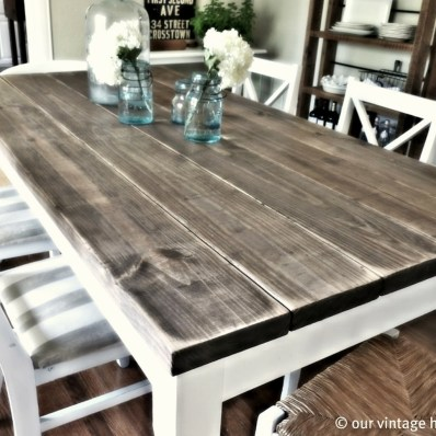 Cute Farmhouse Table Design Ideas Which Is Not Outdated 36