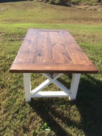 Cute Farmhouse Table Design Ideas Which Is Not Outdated 39