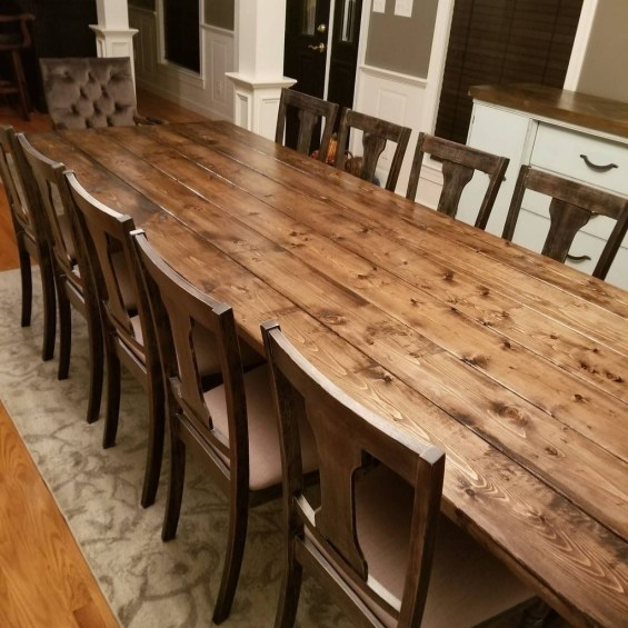Cute Farmhouse Table Design Ideas Which Is Not Outdated 42