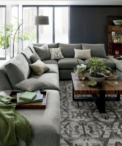 Enchanting Living Rooms Ideas With Combinations Of Grey Green 13