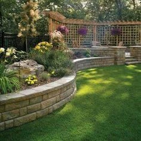 Gorgeous Front Yard Retaining Wall Ideas For Front House 56