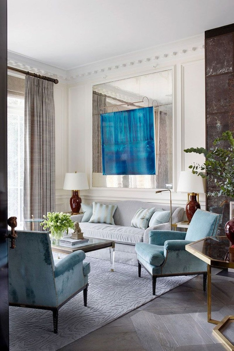 Impressive French Style Living Room Designs Ideas 45