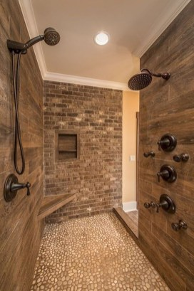 Awesome Bathroom Shower Ideas For Tiny House 44