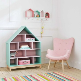 Cozy Bookcase Ideas For Kids Room 10