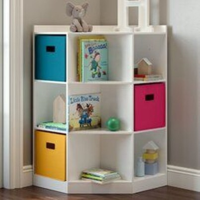Cozy Bookcase Ideas For Kids Room 28