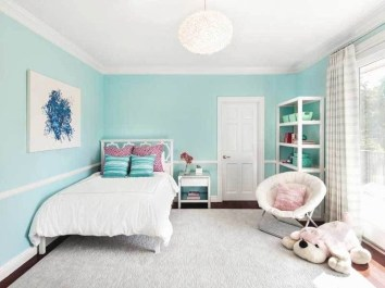 Cute Love Blue Ideas For Teenage Bedroom 04