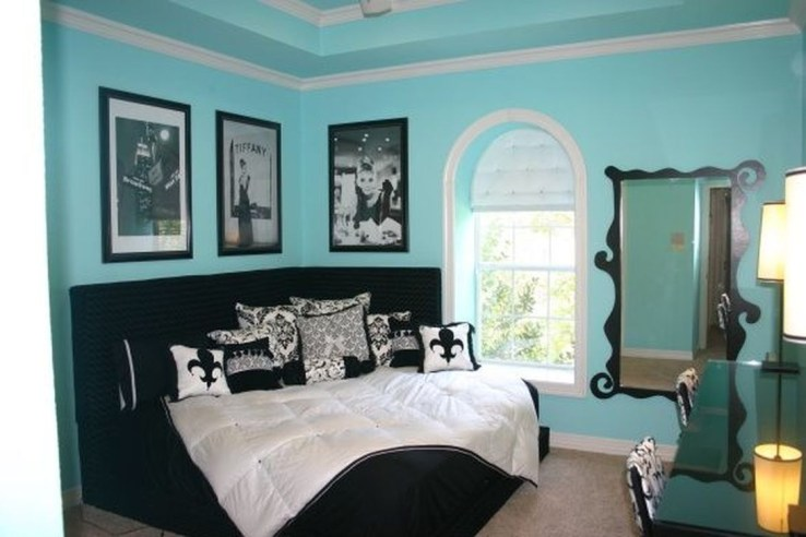 Cute Love Blue Ideas For Teenage Bedroom 09