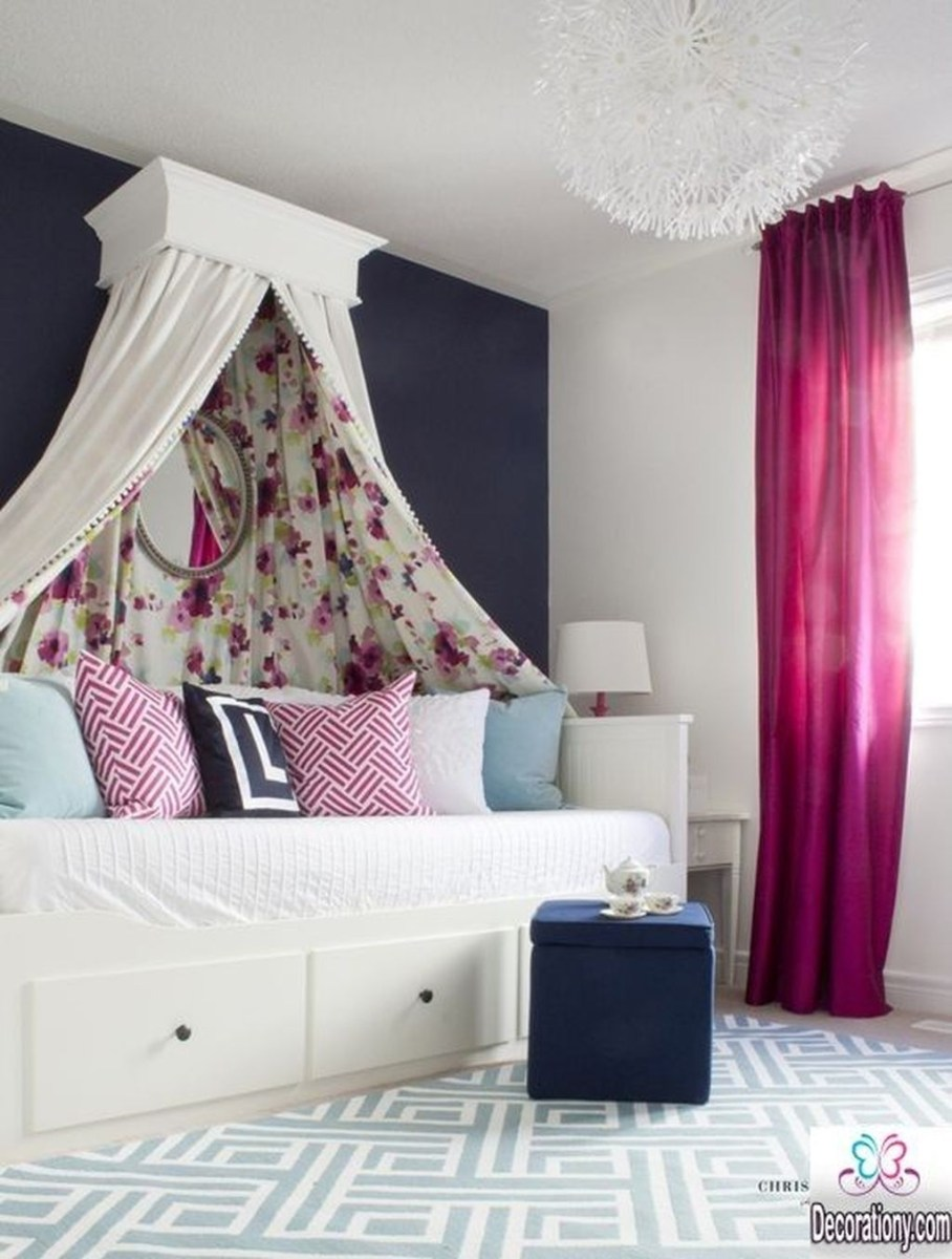 Cute Love Blue Ideas For Teenage Bedroom 15