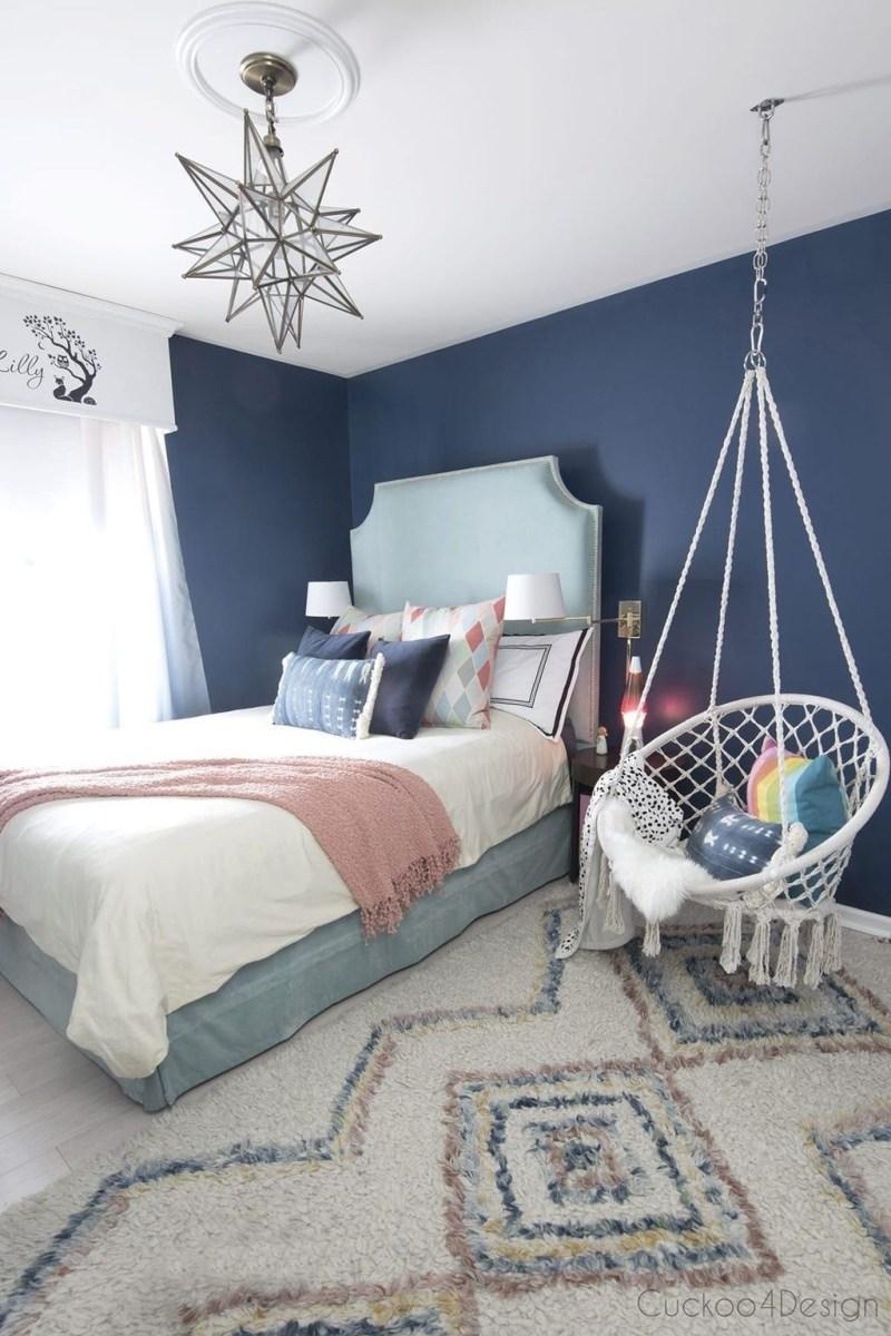 Cute Love Blue Ideas For Teenage Bedroom 20