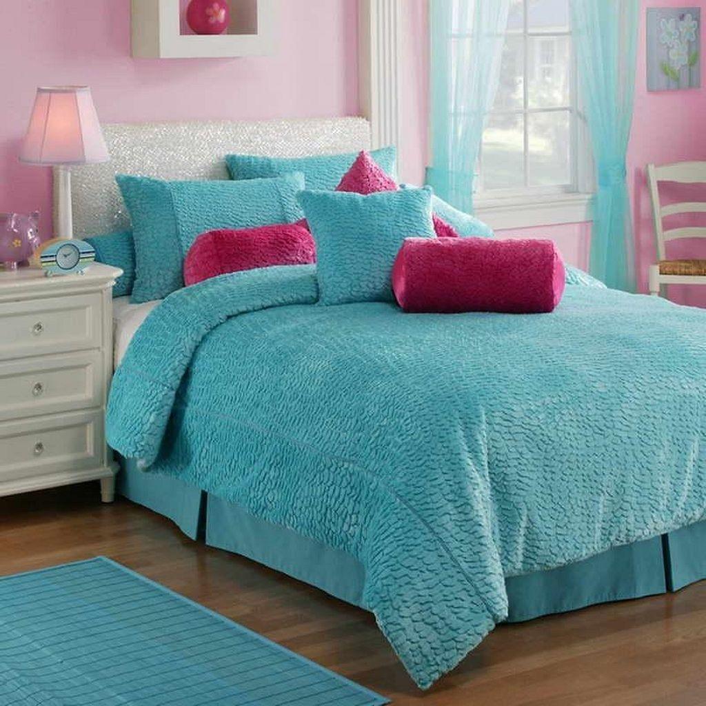 Cute Love Blue Ideas For Teenage Bedroom 23