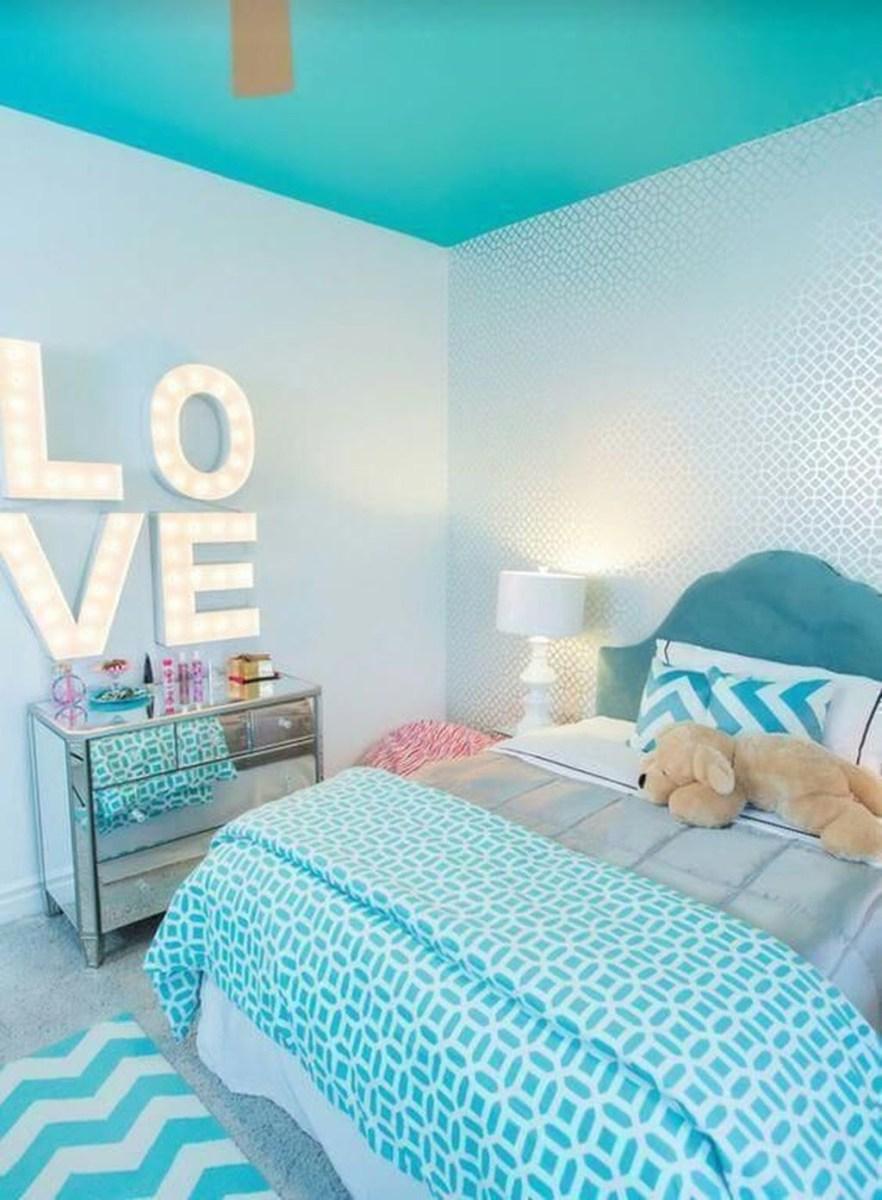Cute Love Blue Ideas For Teenage Bedroom 32