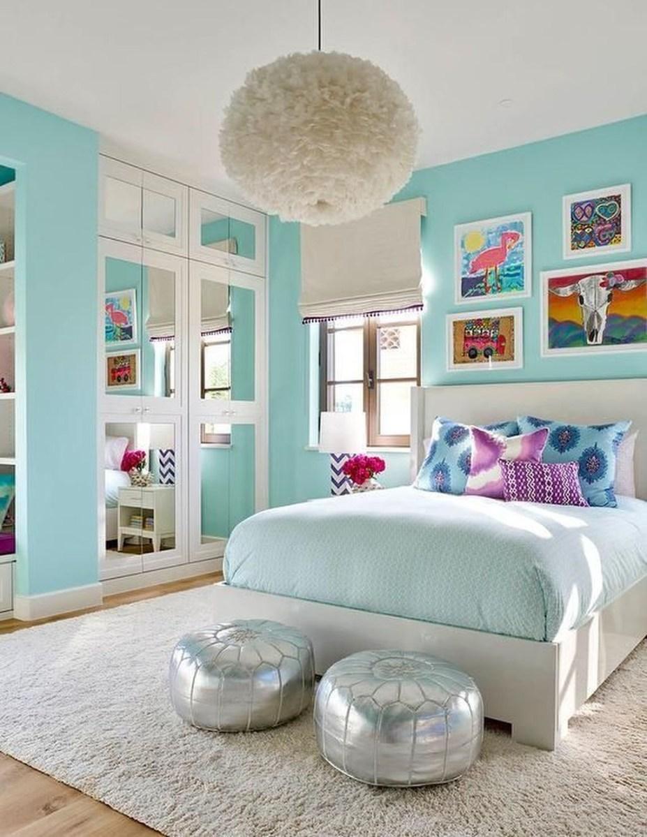 Cute Love Blue Ideas For Teenage Bedroom 39