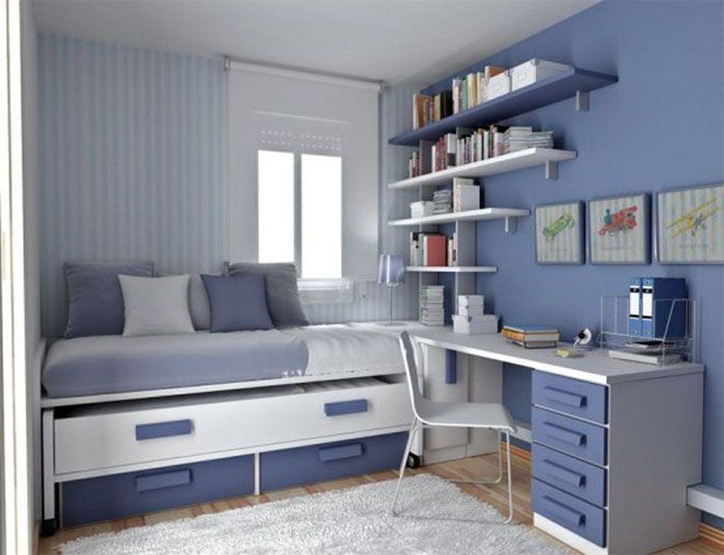 Cute Love Blue Ideas For Teenage Bedroom 43