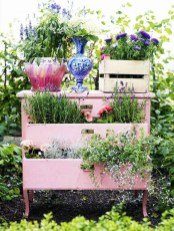 Unique Old Furniture Repurposing Ideas For Yard And Garden 11