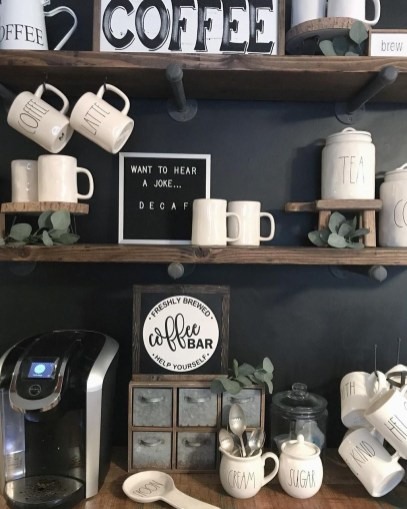 Affordable Diy Mini Coffee Bar Design Ideas For Home Right Now 53