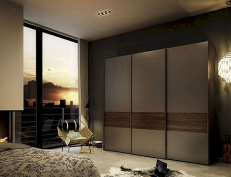 Amazing Sliding Door Wardrobe Design Ideas 14
