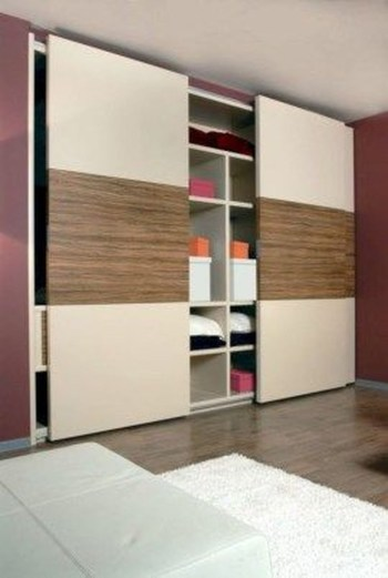 Amazing Sliding Door Wardrobe Design Ideas 38