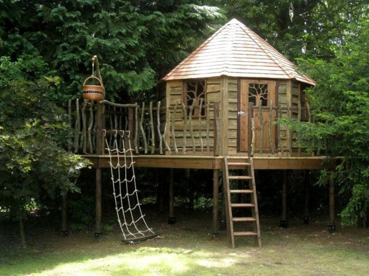 Captivating Treehouse Ideas For Children Playground 10