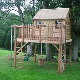 Captivating Treehouse Ideas For Children Playground 16