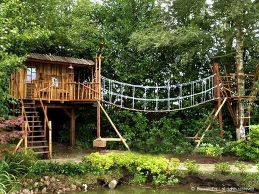 Captivating Treehouse Ideas For Children Playground 22