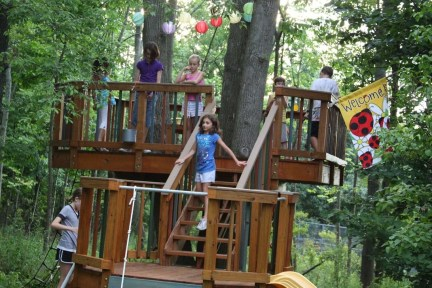 Captivating Treehouse Ideas For Children Playground 47