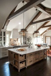 Enchanting Farmhouse Kitchen Decor Ideas To Try Nowaday 40