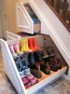 Fantastic Storage Under Stairs Ideas 32