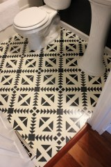 Unusual Diy Painted Tile Floor Ideas With Stencils That Anyone Can Do 02