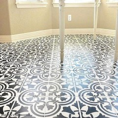 Unusual Diy Painted Tile Floor Ideas With Stencils That Anyone Can Do 04