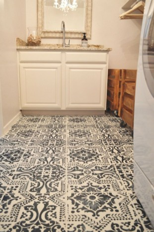 Unusual Diy Painted Tile Floor Ideas With Stencils That Anyone Can Do 08