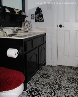 Unusual Diy Painted Tile Floor Ideas With Stencils That Anyone Can Do 19