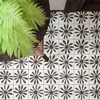 Unusual Diy Painted Tile Floor Ideas With Stencils That Anyone Can Do 20