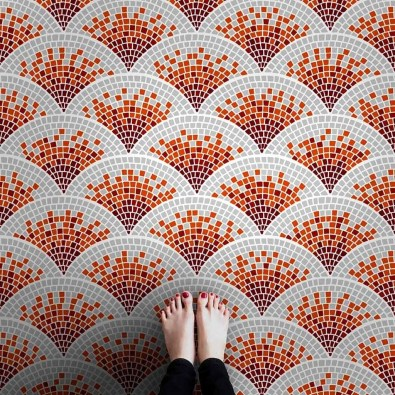 Unusual Diy Painted Tile Floor Ideas With Stencils That Anyone Can Do 27