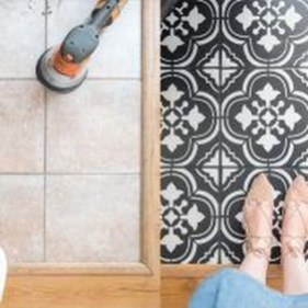 Unusual Diy Painted Tile Floor Ideas With Stencils That Anyone Can Do 29