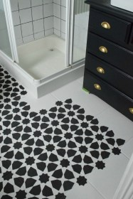 Unusual Diy Painted Tile Floor Ideas With Stencils That Anyone Can Do 38