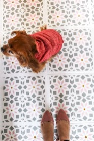 Unusual Diy Painted Tile Floor Ideas With Stencils That Anyone Can Do 49