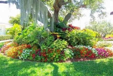 Adorable Flower Beds Ideas Around Trees To Beautify Your Yard 29