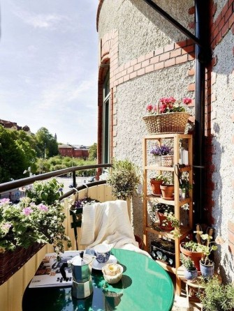 Casual Small Balcony Design Ideas For Spring This Season 25