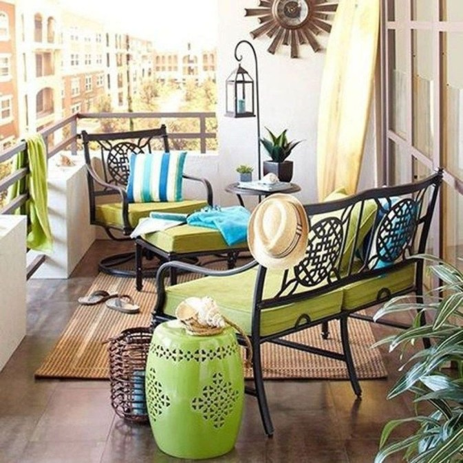 Casual Small Balcony Design Ideas For Spring This Season 51