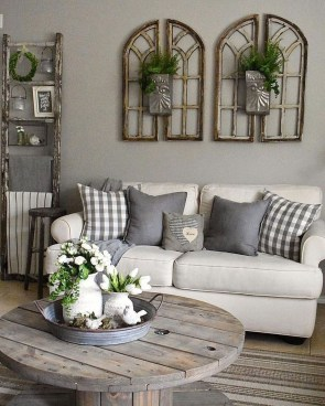 Catchy Farmhouse Decor Ideas For Living Room This Year 16
