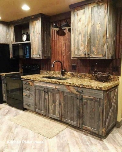 Chic Diy Projects Pallet Kitchen Design Ideas To Try 43