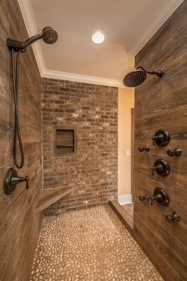 Chic Farmhouse Bathroom Desgn Ideas With Shower 25