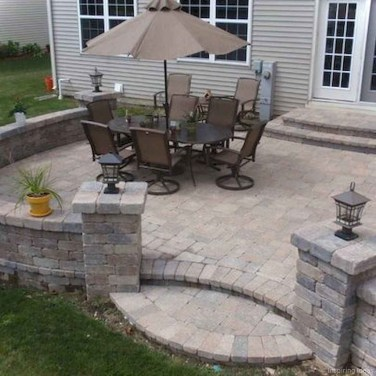 Elegant Backyard Patio Design Ideas For Your Garden 37