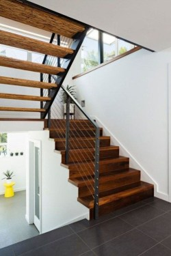 Gorgeous Wooden Staircase Design Ideas For Branching Out 09
