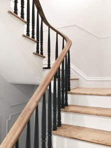 Gorgeous Wooden Staircase Design Ideas For Branching Out 18
