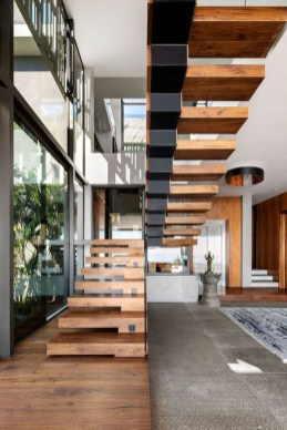 Gorgeous Wooden Staircase Design Ideas For Branching Out 25