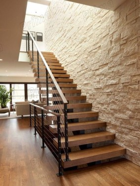 Gorgeous Wooden Staircase Design Ideas For Branching Out 42