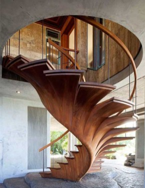 Gorgeous Wooden Staircase Design Ideas For Branching Out 43