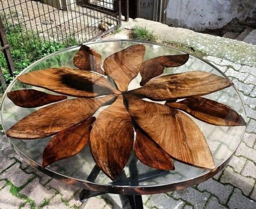 Impressive Home Furniture Ideas With Resin Wood Table 18