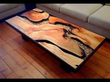 Impressive Home Furniture Ideas With Resin Wood Table 34